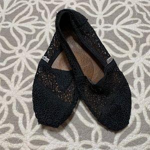 Toms floral lace shoes